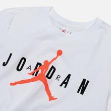 Мужская футболка Jordan Air Wordmark White/Black/Infrared фото- 1