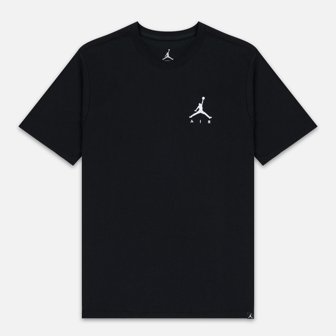 Мужская футболка Jordan Jumpman Air Embroidered Black/White
