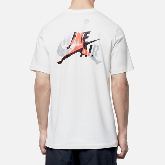 Мужская футболка Jordan Jumpman Classic Graphic White/Infrared