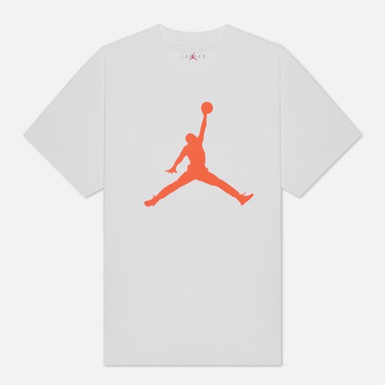 Мужская футболка Jordan Jumpman Crew White/Infrared