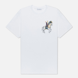 Мужская футболка JW Anderson Camelot Embroidery White