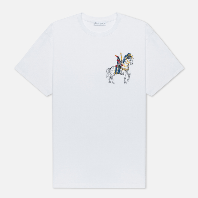 Мужская футболка JW Anderson Camelot Embroidery White