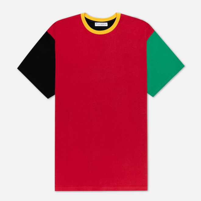 Мужская футболка JW Anderson Colourblock Red/Black