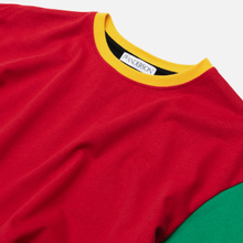 Мужская футболка JW Anderson Colourblock Red/Black фото- 1