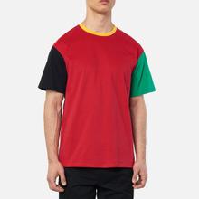Мужская футболка JW Anderson Colourblock Red/Black фото- 2