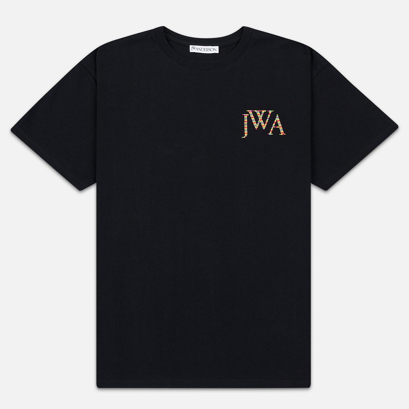 Мужская футболка JW Anderson JWA Embroidery Logo Black