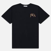 Мужская футболка JW Anderson JWA Embroidery Logo Black фото- 0