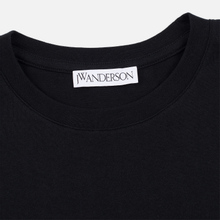 Мужская футболка JW Anderson JWA Embroidery Logo Black фото- 1