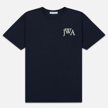 Мужская футболка JW Anderson JWA Embroidery Logo Navy фото- 0