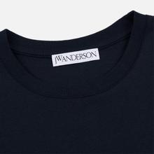 Мужская футболка JW Anderson JWA Embroidery Logo Navy фото- 1