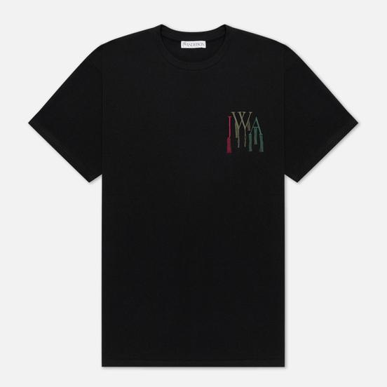 Мужская футболка JW Anderson JWA Logo Embroidery Black