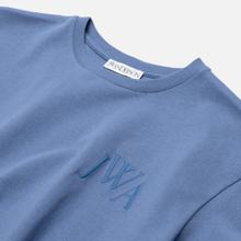 Мужская футболка JW Anderson JWA Logo Embroidery Denim Blue фото- 1