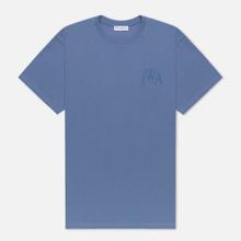 Мужская футболка JW Anderson JWA Logo Embroidery Denim Blue фото- 0