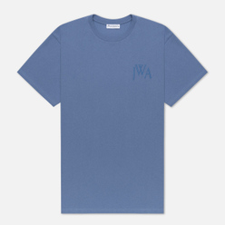 Мужская футболка JW Anderson JWA Logo Embroidery Denim Blue