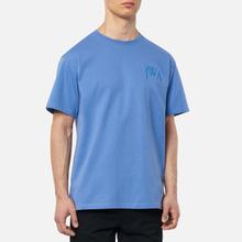 Мужская футболка JW Anderson JWA Logo Embroidery Denim Blue фото- 2