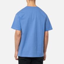 Мужская футболка JW Anderson JWA Logo Embroidery Denim Blue фото- 3