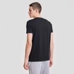 Мужская футболка Lacoste Classic Embroidered Logo Black фото- 2
