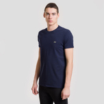 Мужская футболка Lacoste Classic Embroidered Logo Navy Blue фото- 1