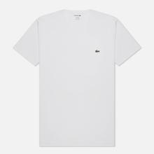 Мужская футболка Lacoste Classic Embroidered Logo White фото- 0