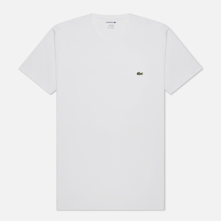 Мужская футболка Lacoste Classic Embroidered Logo White