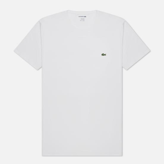 Мужская футболка Lacoste Classic Embroidered Logo White