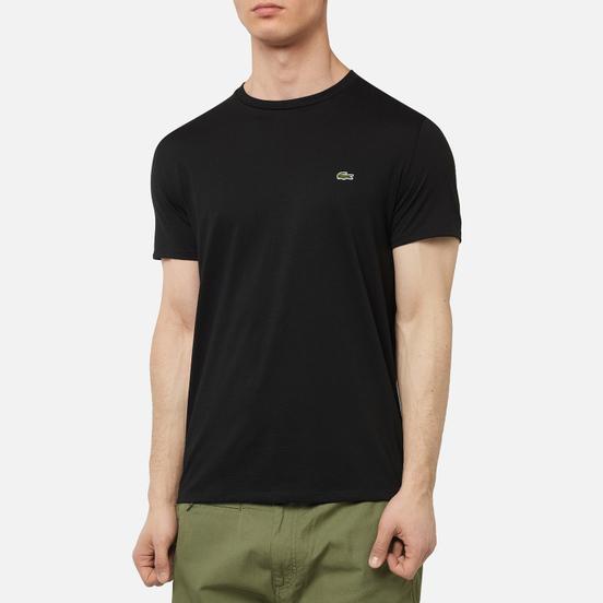 Мужская футболка Lacoste Crew Neck Pima Cotton Black