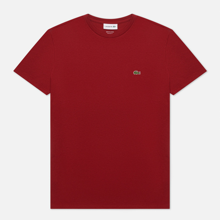 Мужская футболка Lacoste Crew Neck Pima Cotton Bordeaux Red