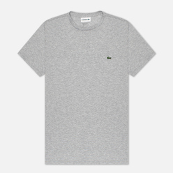 Мужская футболка Lacoste Crew Neck Pima Cotton Grey Chine