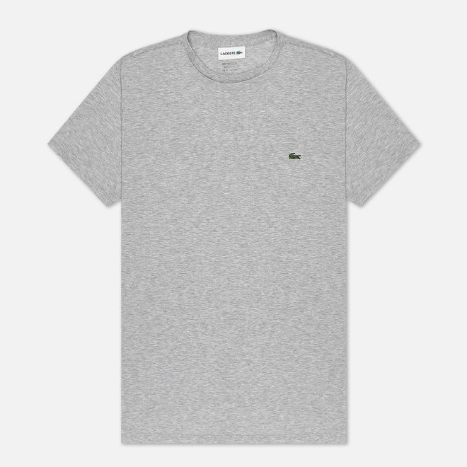 Мужская футболка Lacoste Crew Neck Pima Cotton Grey Chine