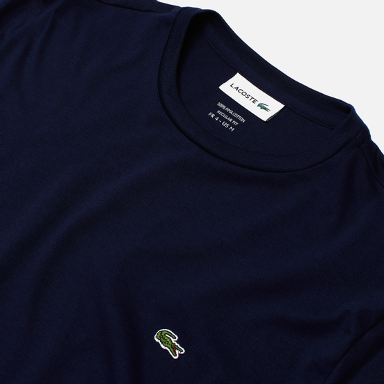 Мужская футболка Lacoste Crew Neck Pima Cotton Navy Blue