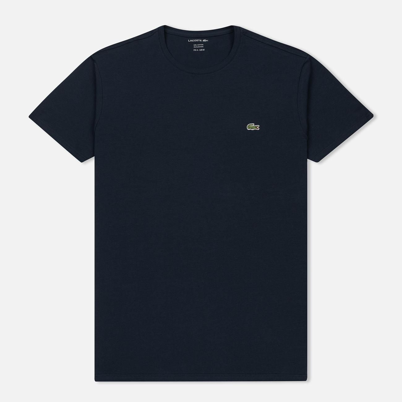 Мужская футболка Lacoste Crew Neck Pima Cotton Navy Blue
