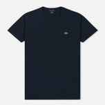 Мужская футболка Lacoste Crew Neck Pima Cotton Navy Blue фото- 0