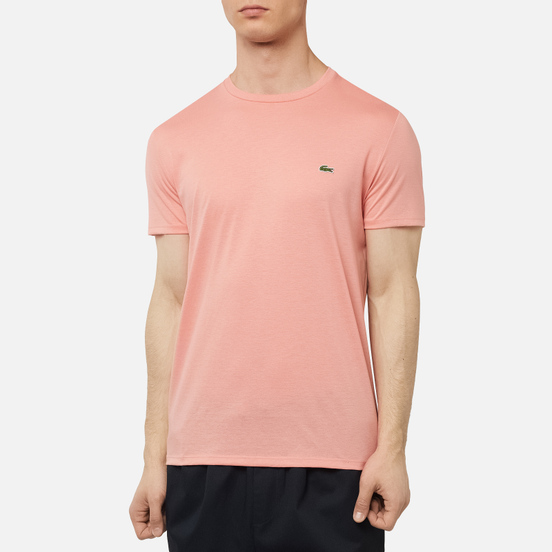 Мужская футболка Lacoste Crew Neck Pima Cotton Pink