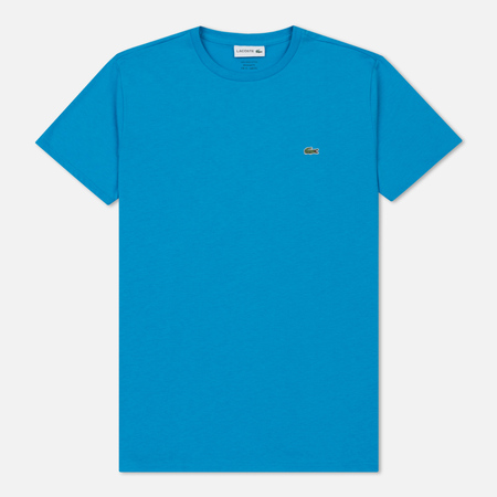 Мужская футболка Lacoste Crew Neck Pima Cotton Plane Blue