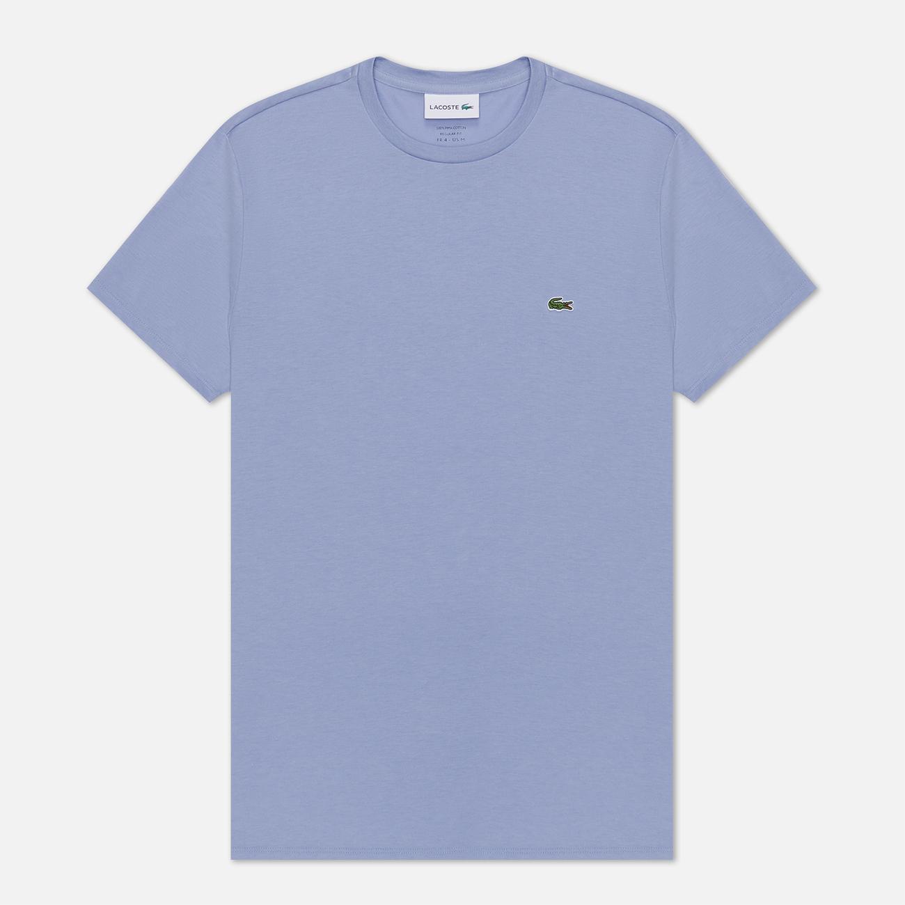 Мужская футболка Lacoste Crew Neck Pima Cotton Purple