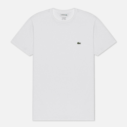 Мужская футболка Lacoste Crew Neck Pima Cotton White
