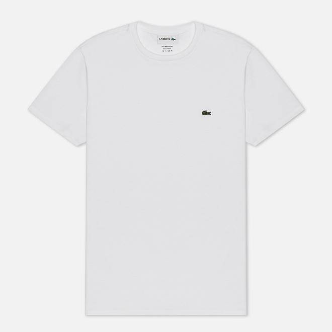 Мужская футболка Lacoste Crew Neck Pima Cotton White