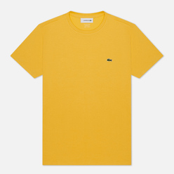 Мужская футболка Lacoste Crew Neck Pima Cotton Yellow
