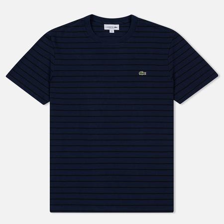 Мужская футболка Lacoste Crew Neck Striped Cotton Navy Blue/Black