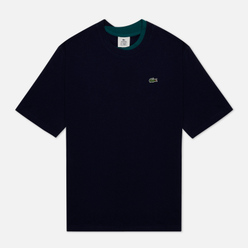Мужская футболка Lacoste Double Collar Cotton Navy Blue/Green