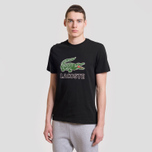 Мужская футболка Lacoste Graphic Croc Logo Black фото- 1