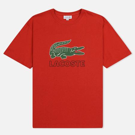 Мужская футболка Lacoste Graphic Croc Logo Red