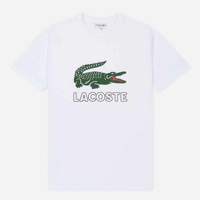 Мужская футболка Lacoste Graphic Croc Logo White