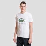 Мужская футболка Lacoste Graphic Croc Logo White фото- 1