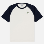 Мужская футболка Lacoste Live Crew Neck Colourblock White/Navy Blue/Navy Blue фото- 0