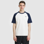 Мужская футболка Lacoste Live Crew Neck Colourblock White/Navy Blue/Navy Blue фото- 1