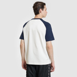 Мужская футболка Lacoste Live Crew Neck Colourblock White/Navy Blue/Navy Blue фото- 3