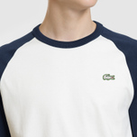 Мужская футболка Lacoste Live Crew Neck Colourblock White/Navy Blue/Navy Blue фото- 2