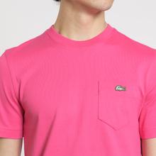 Мужская футболка Lacoste Live Crew Neck Cotton Jersey Fushia Pink фото- 3