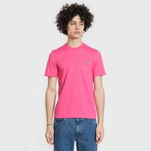 Мужская футболка Lacoste Live Crew Neck Cotton Jersey Fushia Pink фото- 1